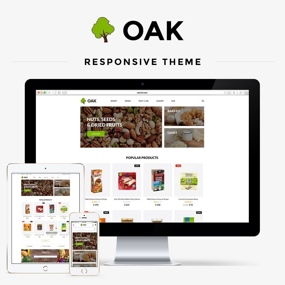 theme - Alimentos & Restaurantes - Oak  Food Shop - 1