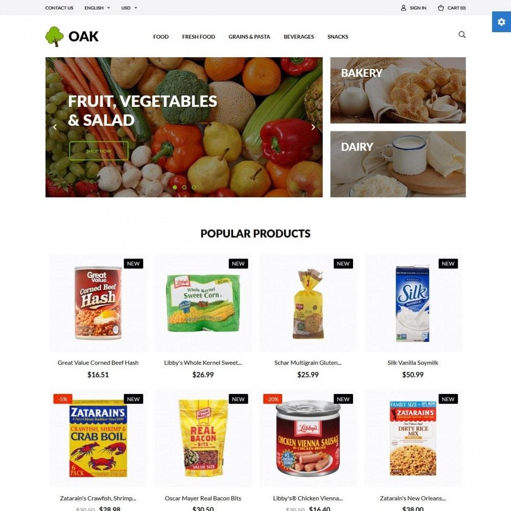 theme - Alimentos & Restaurantes - Oak  Food Shop - 2
