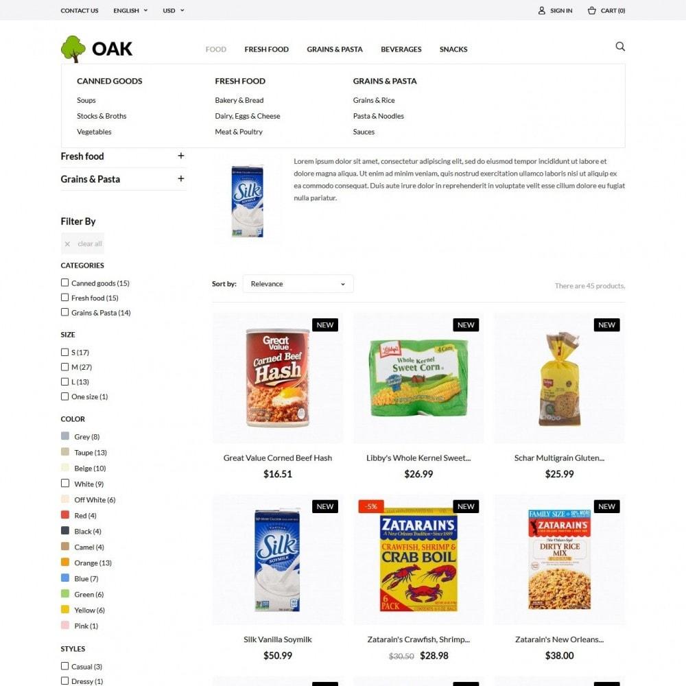 theme - Alimentos & Restaurantes - Oak  Food Shop - 4