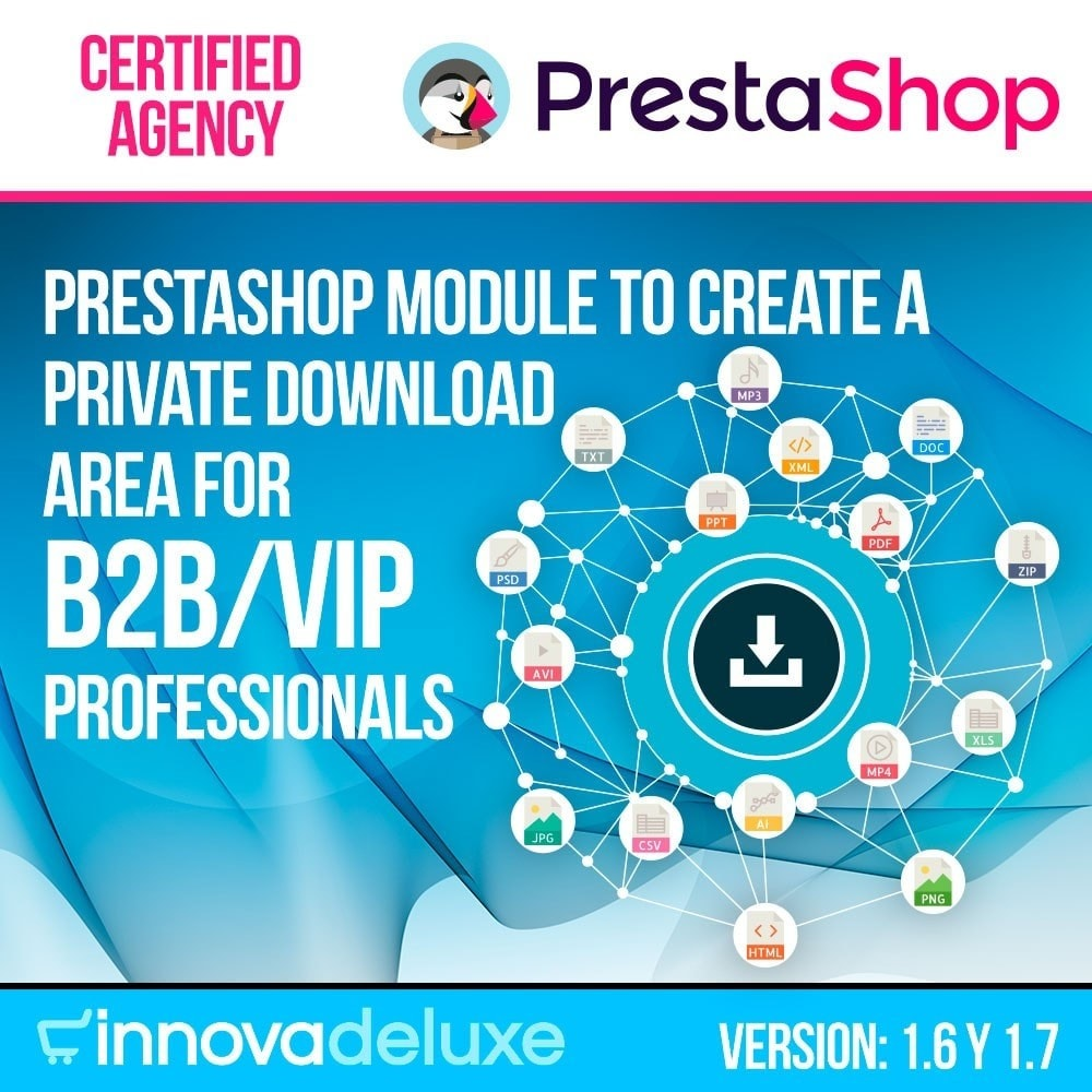 module - Virtual Products - Private download zone for authorized customers - 1