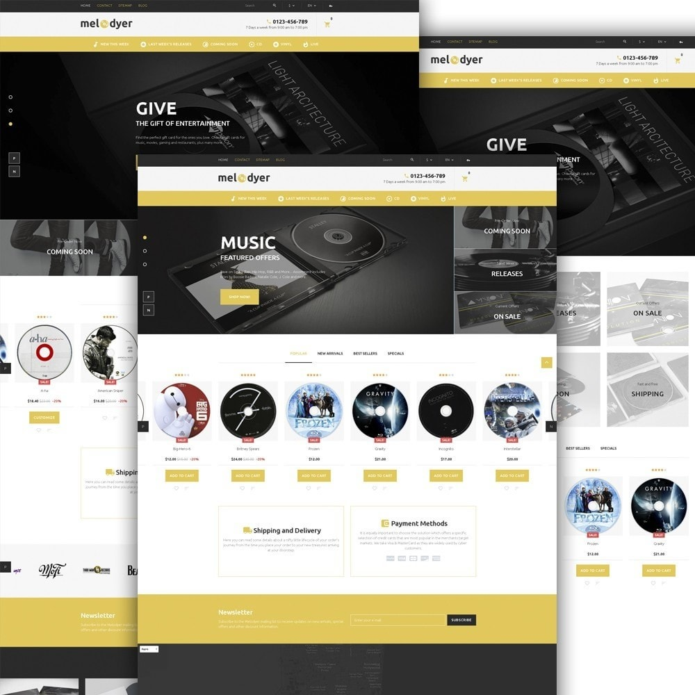 theme - Elektronica & High Tech - Melodyer - Audio Store Responsive - 2