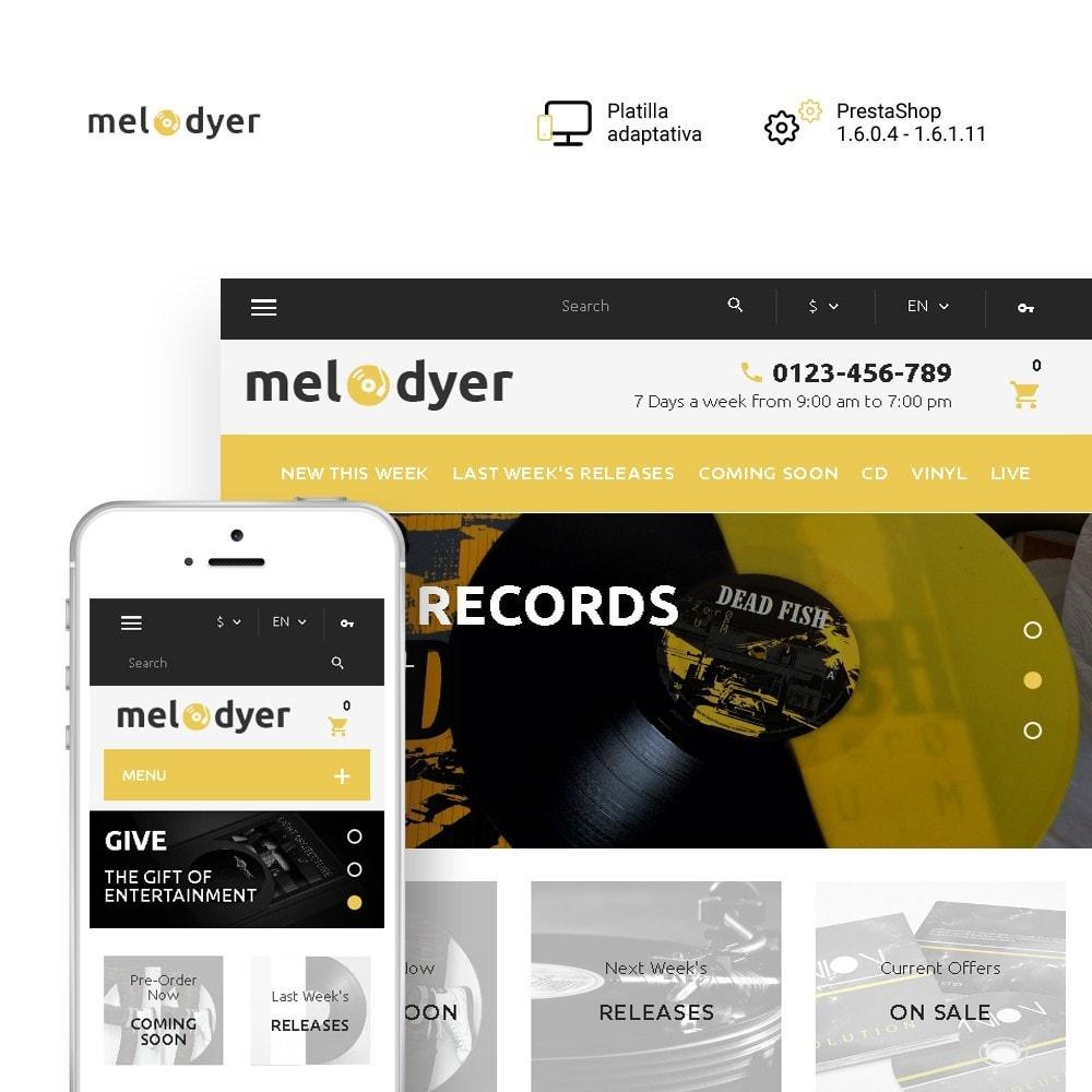 theme - Electrónica e High Tech - Melodyer - Sitio de Tienda de Audio - 1