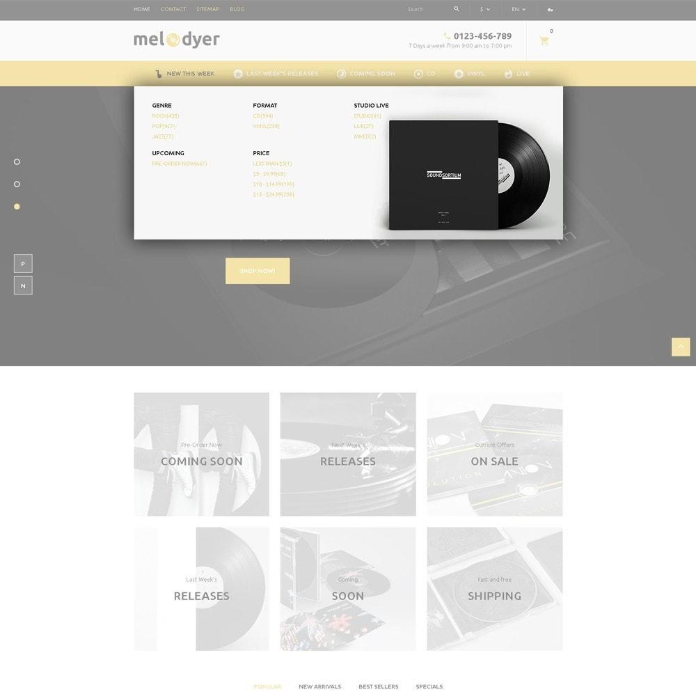 theme - Electrónica e High Tech - Melodyer - Sitio de Tienda de Audio - 6