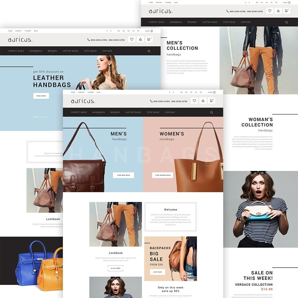 theme - Мода и обувь - Auricus - Handbag Store - 3