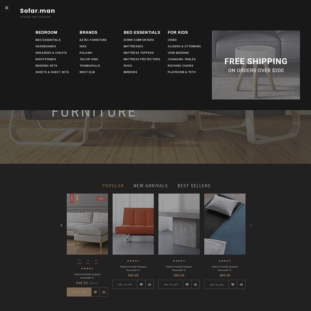 theme - Дом и сад - Sofarman - Адаптивный PrestaShop шаблон магазина мебели - 7