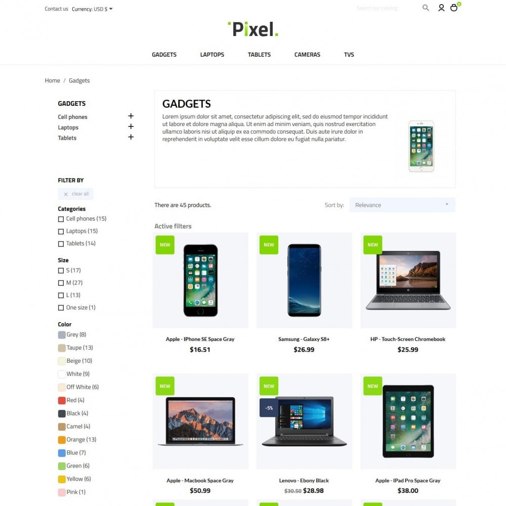 theme - Электроника и компьютеры - Pixel - High-tech Shop - 5