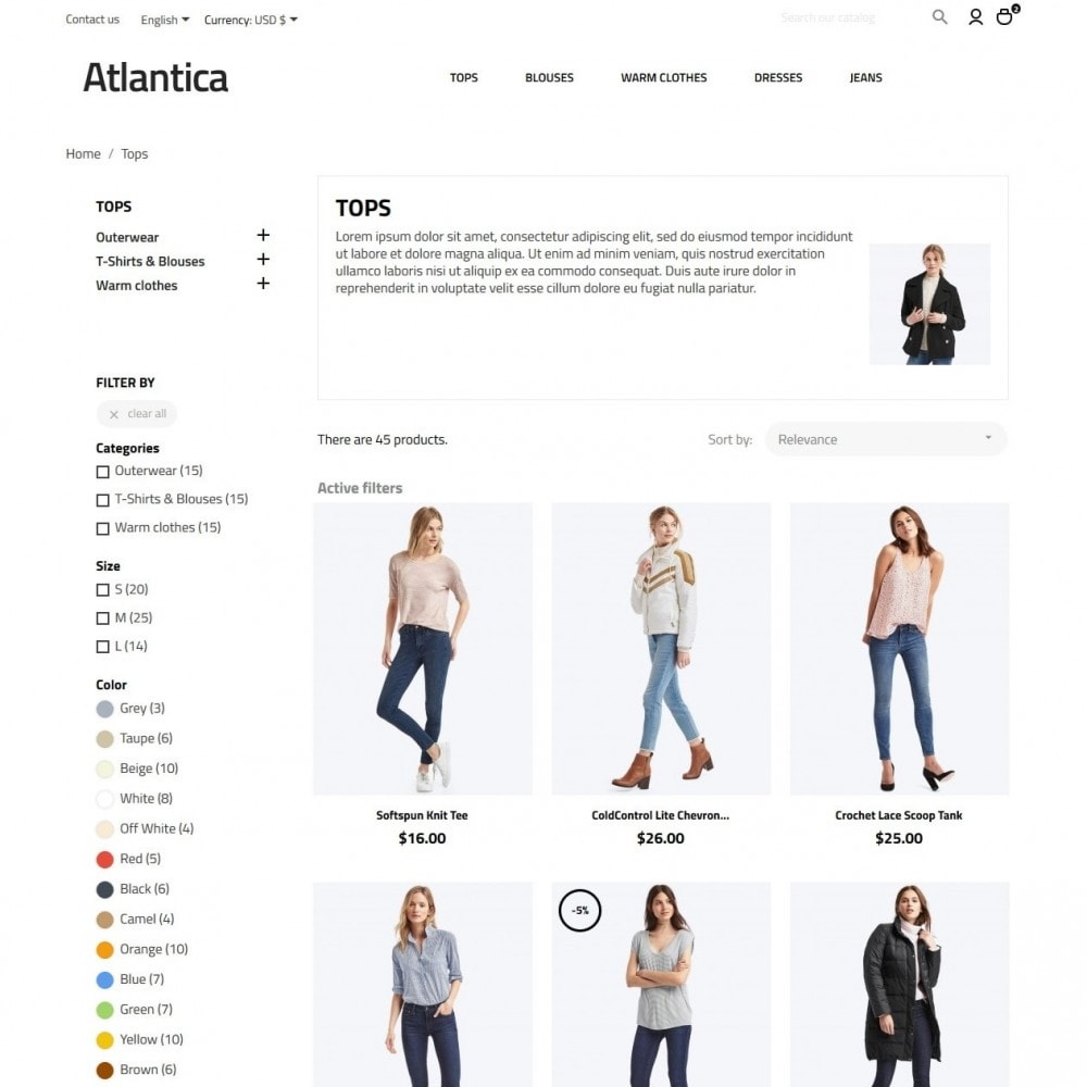 theme - Mode & Chaussures - Atlantica Fashion Store - 5