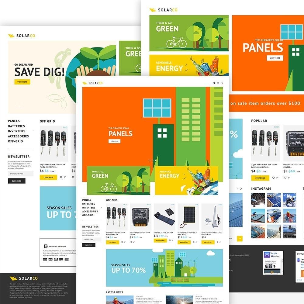 theme - Home & Garden - SolarCo - Solar Batteries  Accessories - 2
