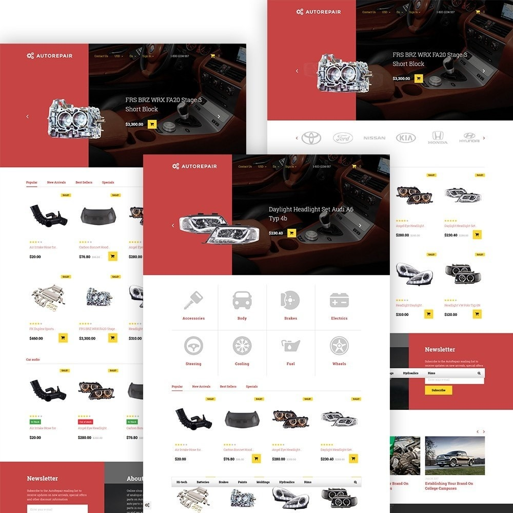 theme - Automotive & Cars - Autorepair - Car Parts - 2