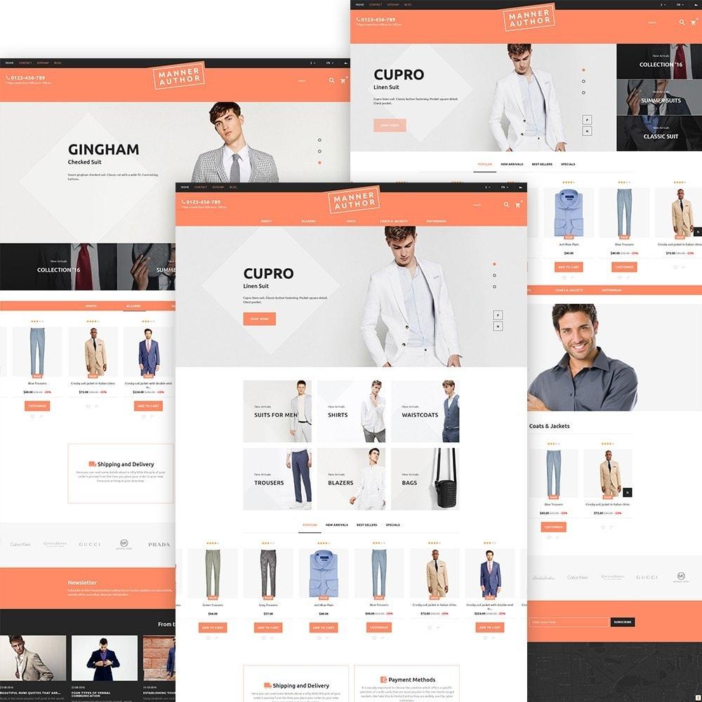 theme - Мода и обувь - MannerAuthor - шаблон по продаже мужской одежды - 2