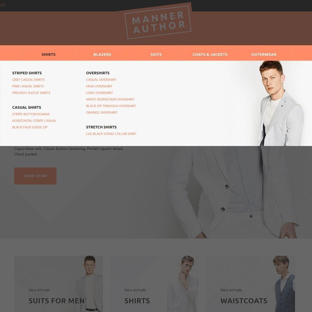 theme - Мода и обувь - MannerAuthor - шаблон по продаже мужской одежды - 4
