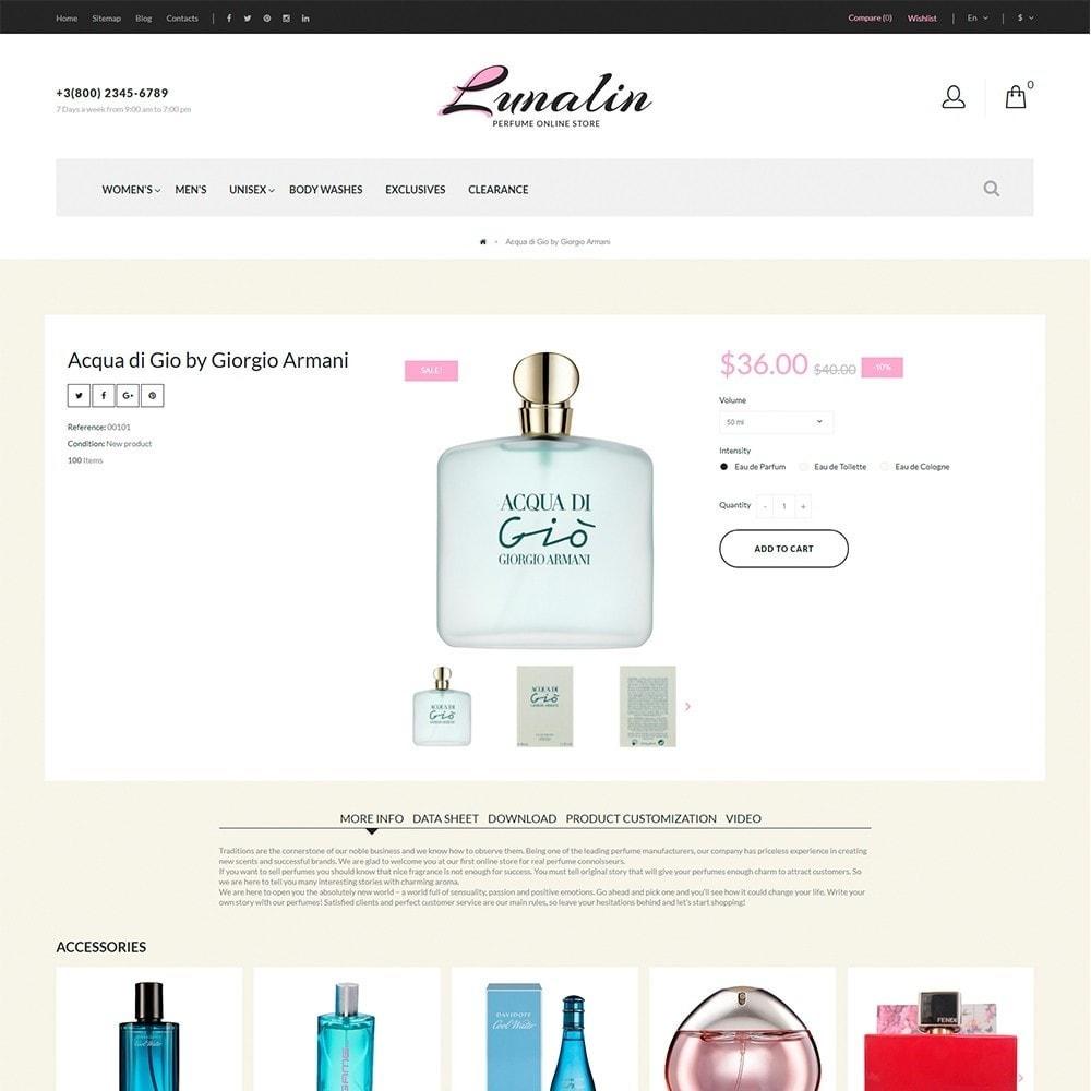 theme - Мода и обувь - Lunalin - шаблон на тему магазин косметики - 5