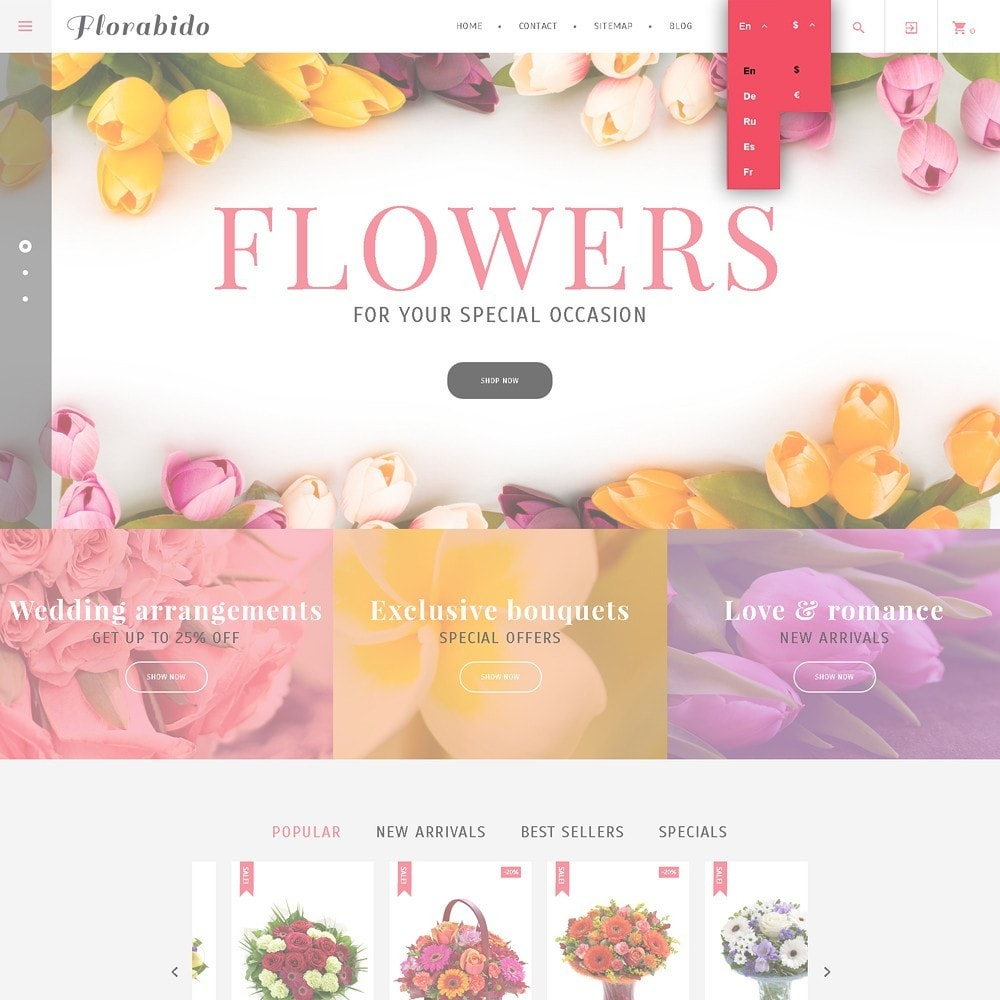 theme - Cadeaux, Fleurs et Fêtes - Florabido - Bouquets et arrangements floraux - 7