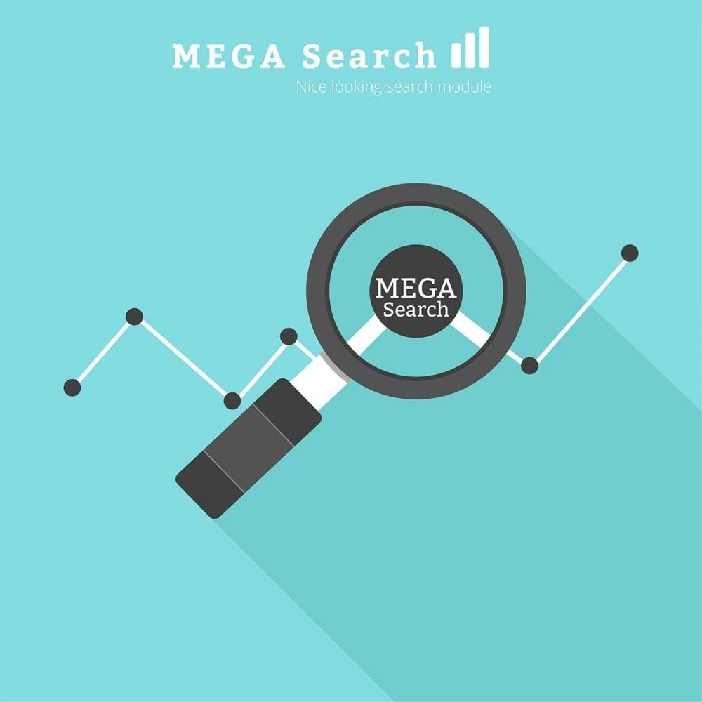 module - Recherche & Filtres - MEGA Search - Bloc de recherche de conception multiple - 1