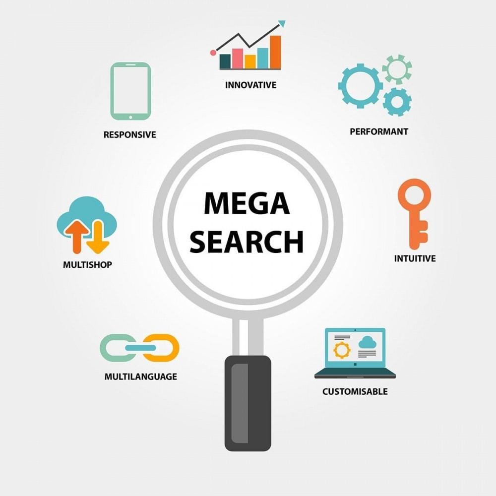 module - Recherche & Filtres - MEGA Search - Bloc de recherche de conception multiple - 2