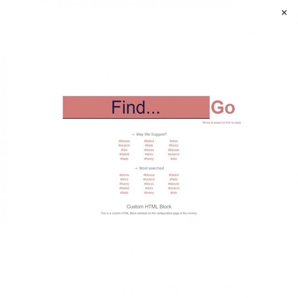module - Recherche & Filtres - MEGA Search - Bloc de recherche de conception multiple - 12