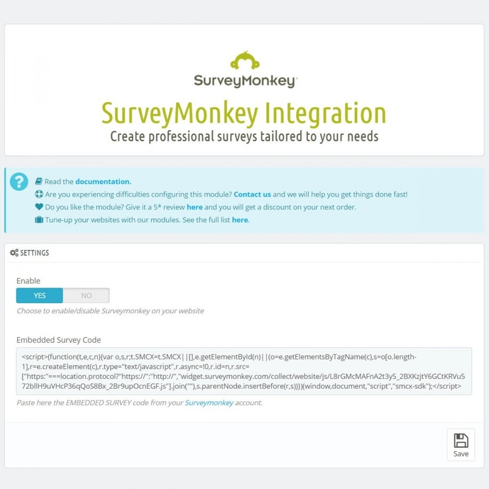 module - Formulaires de Contact & Sondages - SurveyMonkey Integration - Professional surveys - 5
