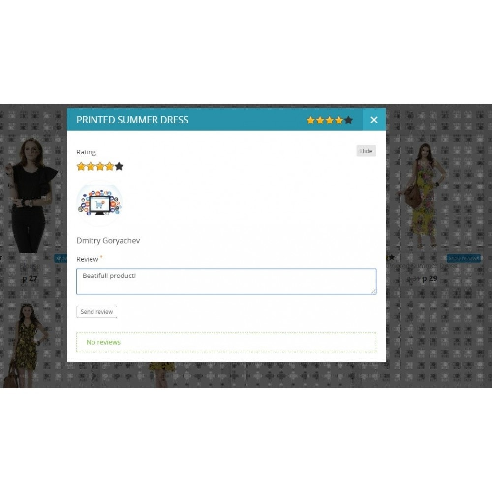 module - Customer Reviews - Reviews about product in category and product page - 1