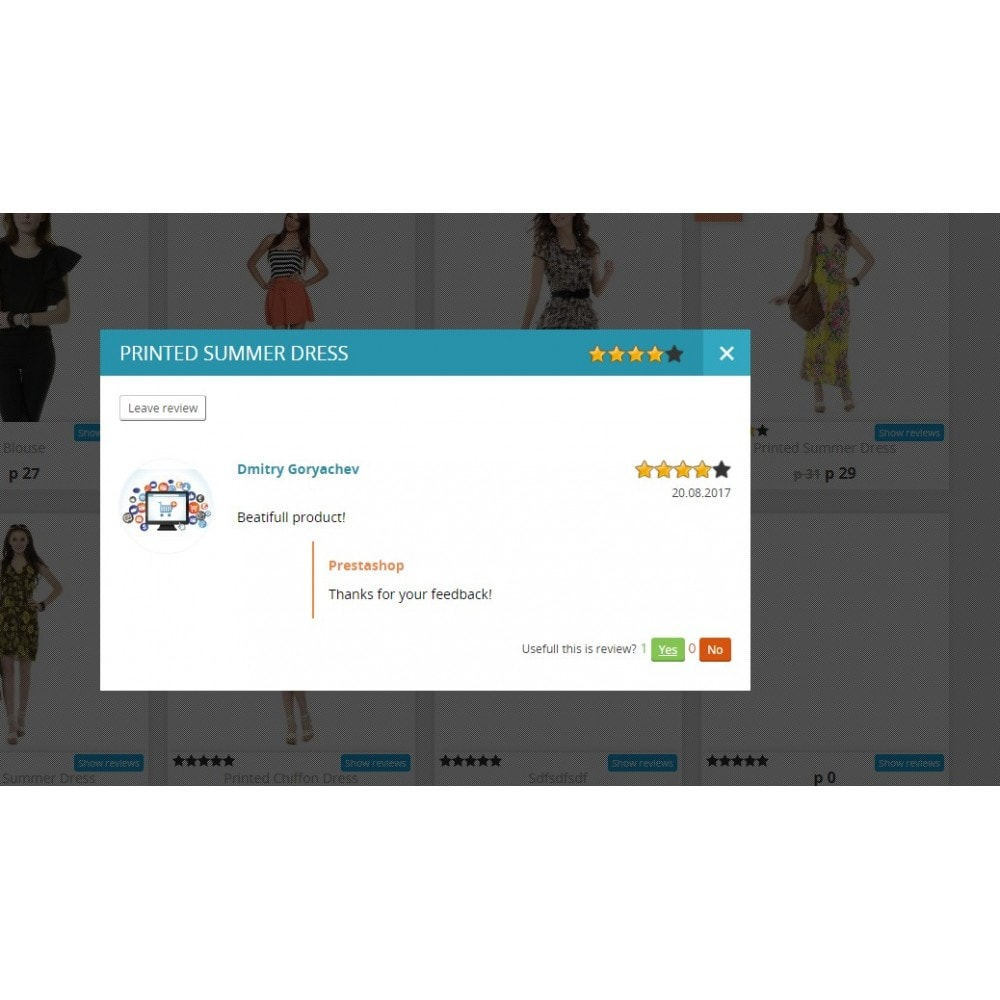 module - Customer Reviews - Reviews about product in category and product page - 2