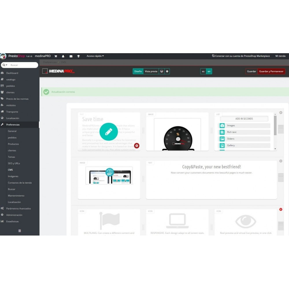 module - Personalización de la página - MedinaPro diseñador de páginas 10 en 1 - 3