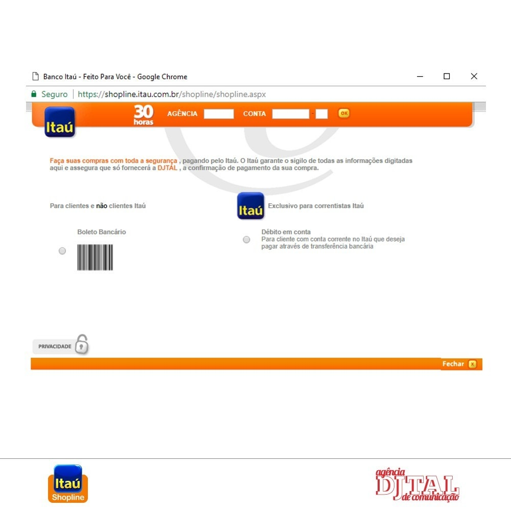 module - Payment by Card or Wallet - Payment by Itau Shopline - 4