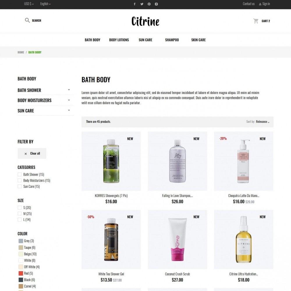 theme - Santé & Beauté - Citrine Cosmetics - 5
