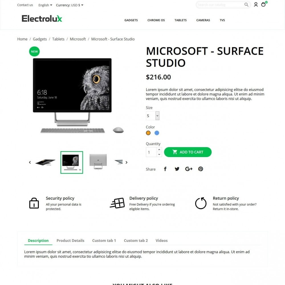 theme - Elettronica & High Tech - Electrolux - High-tech Shop - 6