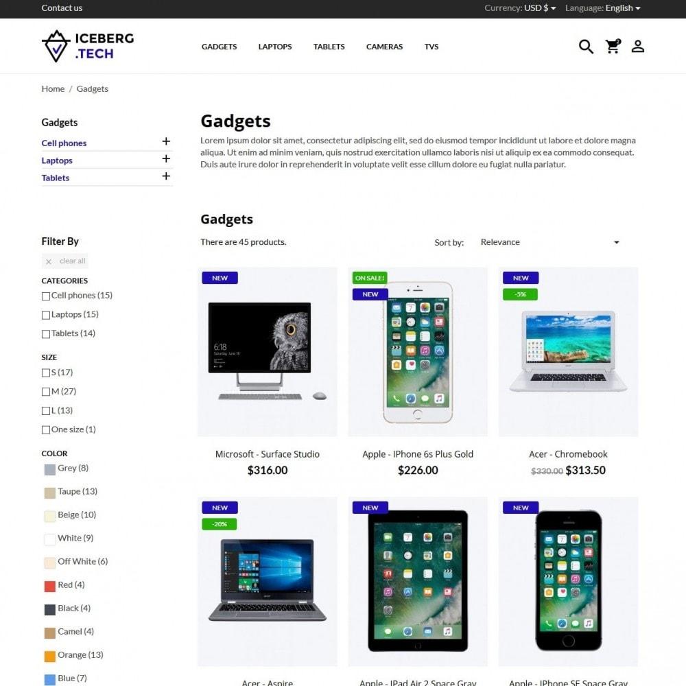 theme - Electronique & High Tech - Iceberg.tech - High-tech Shop - 5