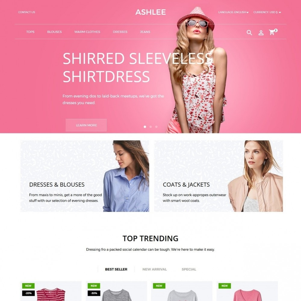 theme - Moda & Obuwie - Ashlee Fashion Store - 2