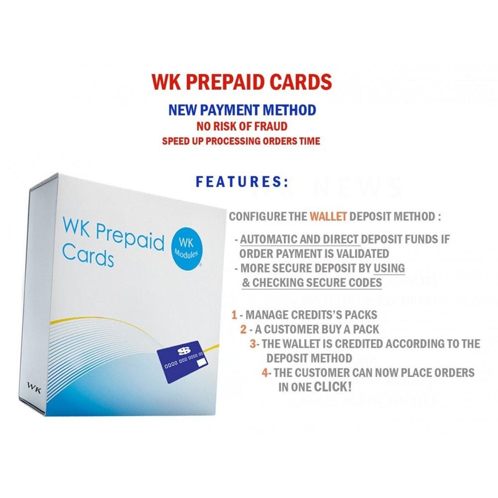 module - Предварительная оплата - WK Prepaid Cards - 1