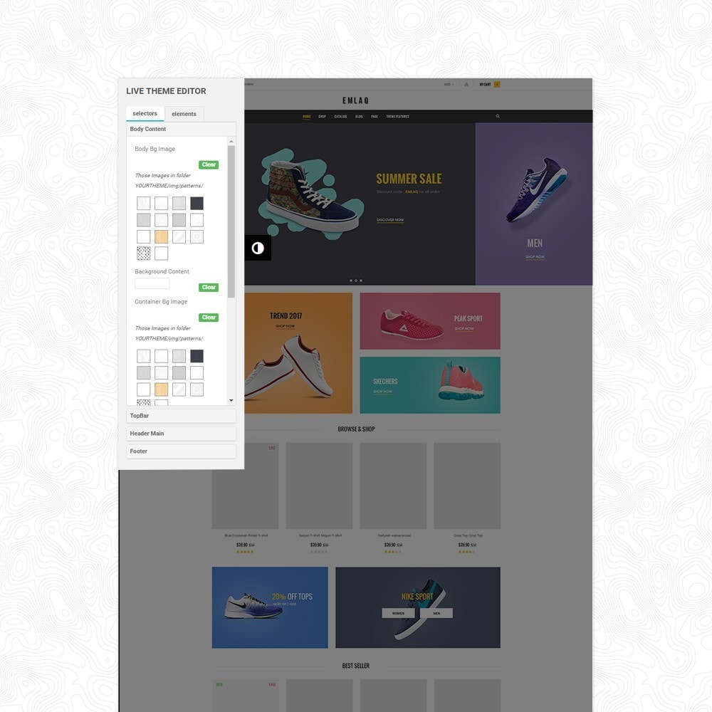 theme - Deportes, Actividades y Viajes - Elaq Fashion Sport Shoes Funiture Theme 1.7 - 2