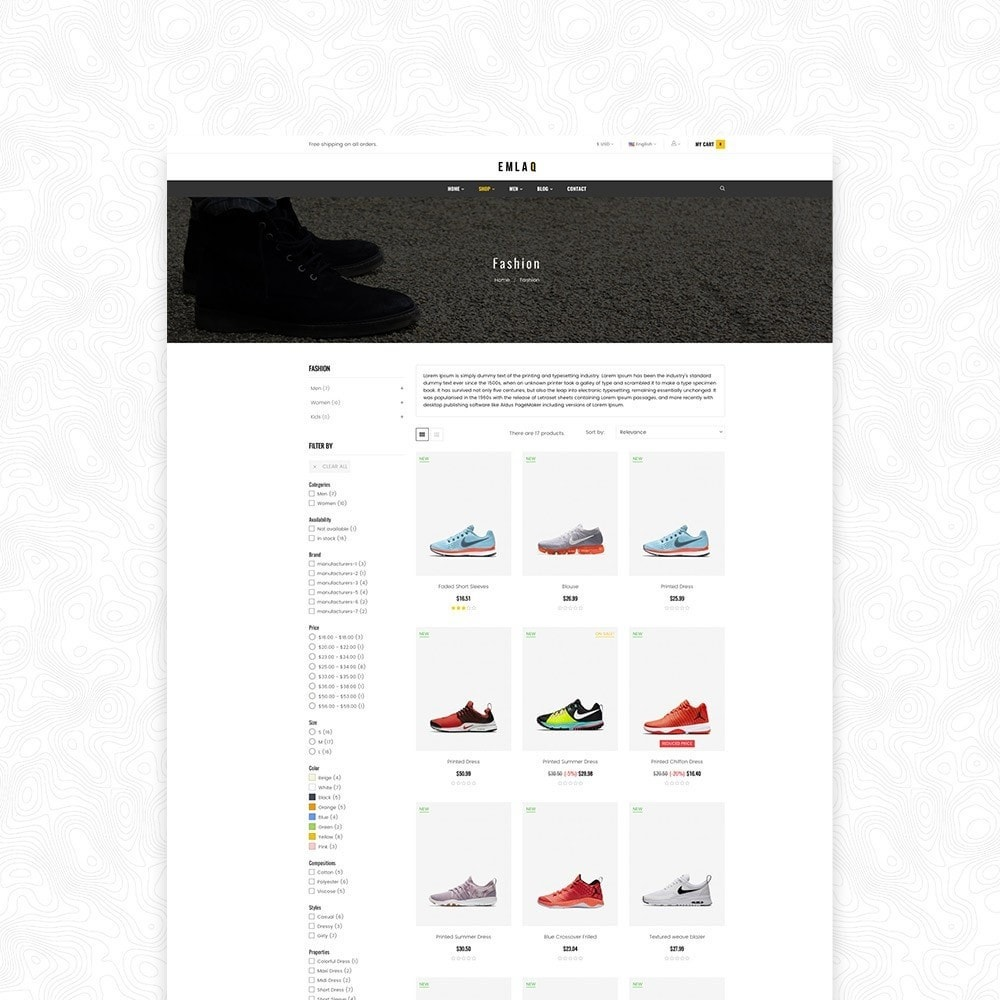 theme - Moda & Calçados - Elaq Fashion Sport Shoes Funiture - 4