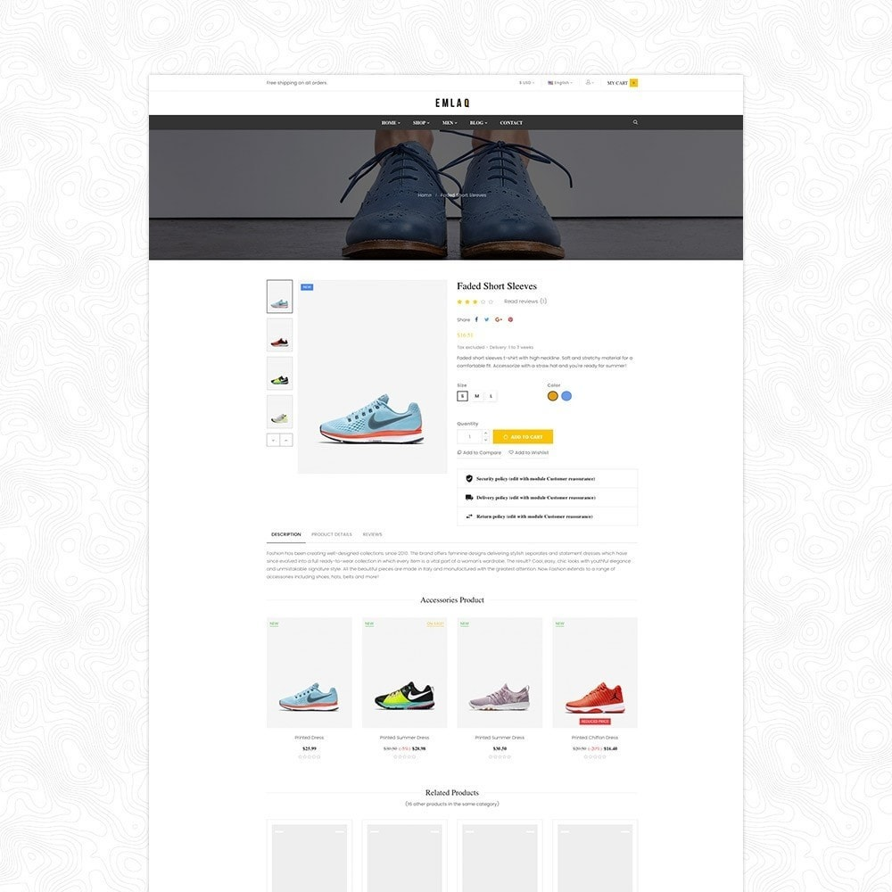 theme - Deportes, Actividades y Viajes - Elaq Fashion Sport Shoes Funiture Theme 1.7 - 6