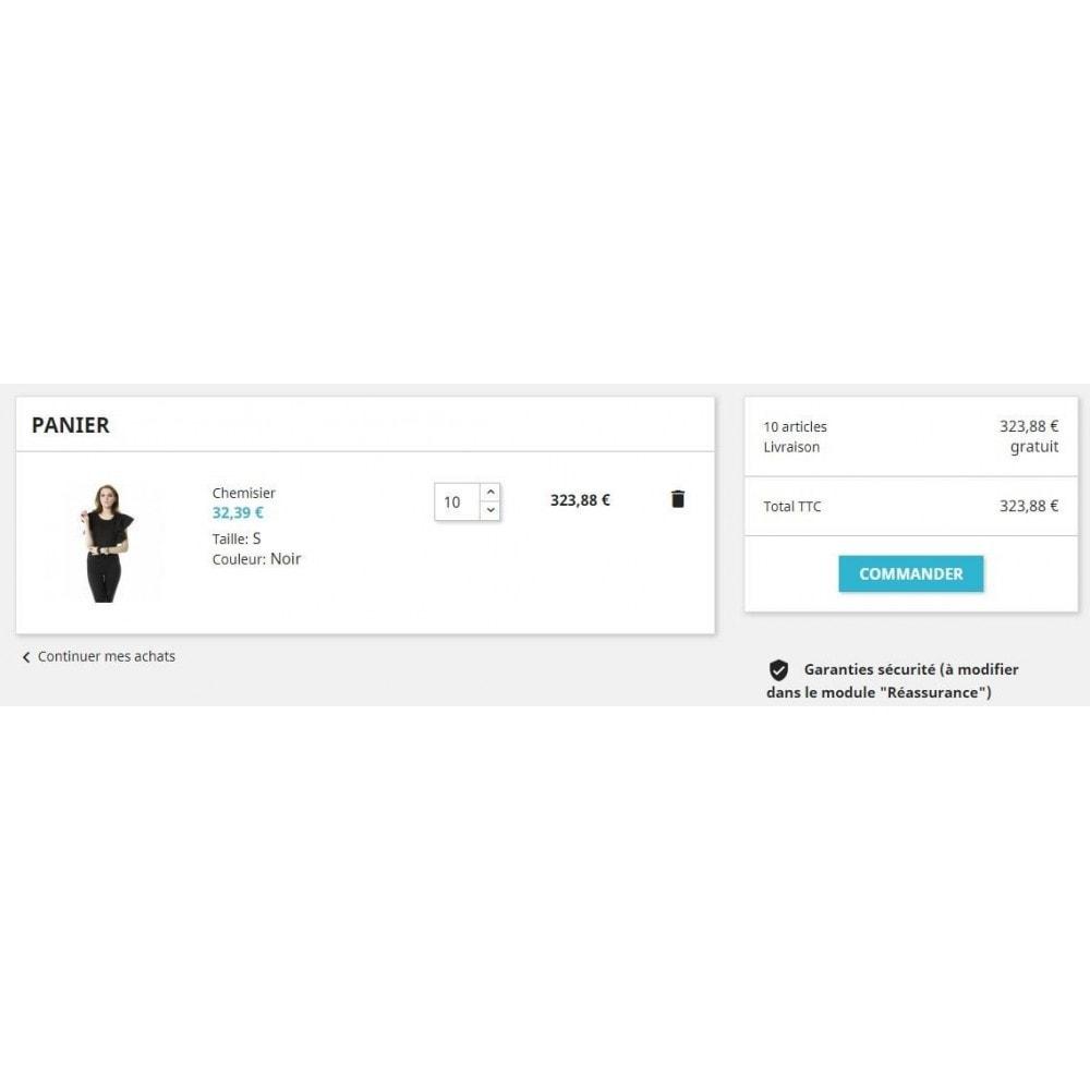 module - Registratie en Proces van bestellingen - Cart with minimum quantity - 3