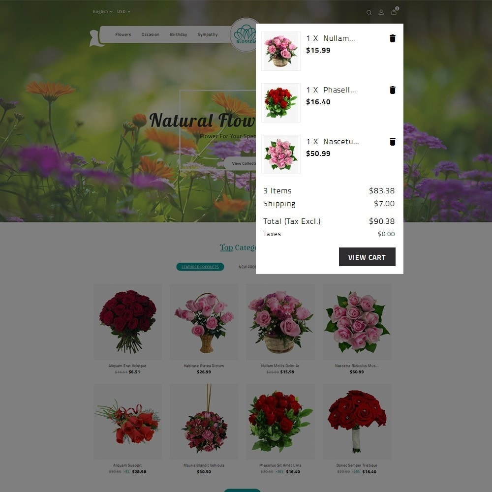 theme - Подарки, Цветы и праздничные товары - Blossom Flower - 9