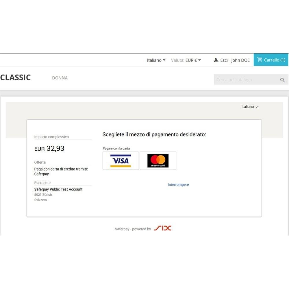 module - Pagamento con Carta di Credito o Wallet - Saferpay / SIX Payment Services - Pagamenti ricorrenti - 4