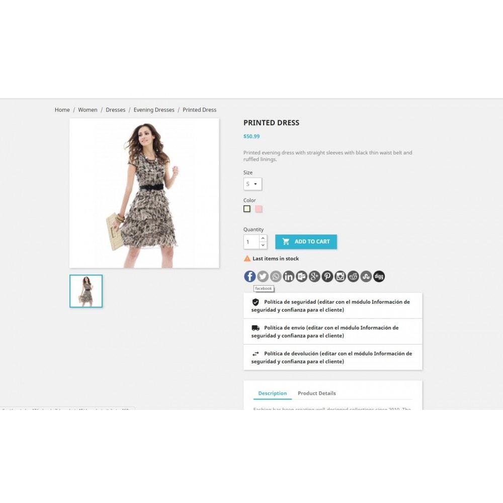 module - Pulsanti di condivisione & Commenti - CoolShare Plus Social networks - 5