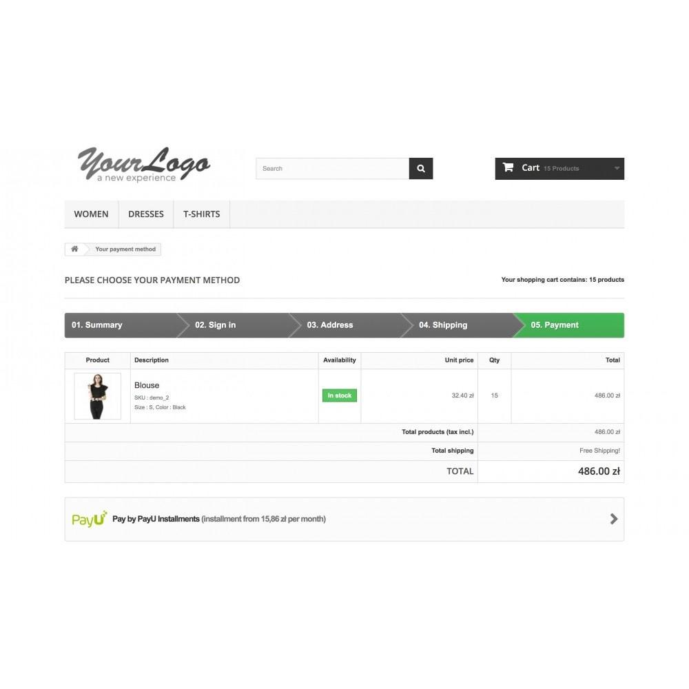 module - Płatność kartą lub Płatność Wallet - Raty PayU - 2