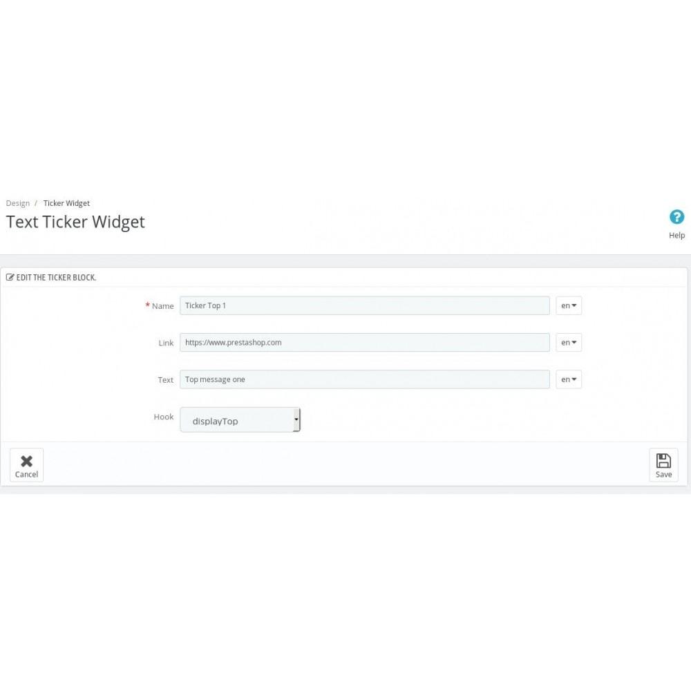 module - Personalisering van pagina's - Text Ticker - 4