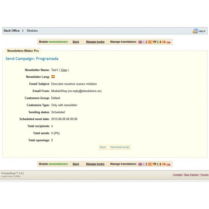 module - Newsletter & SMS - Newsletter Maker Pro - 10
