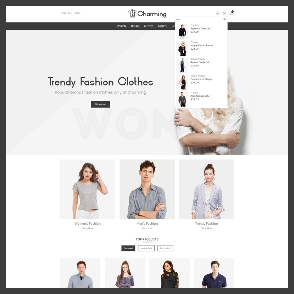 theme - Mode & Chaussures - Charming Fashion Store - 5