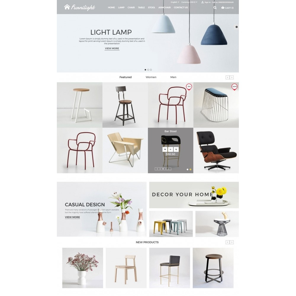 theme - Дом и сад - Furniture Light Store - 2
