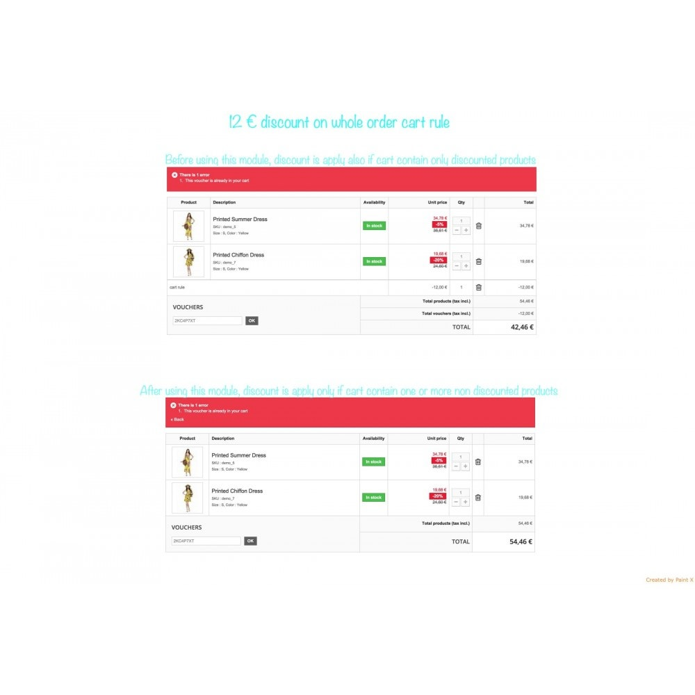 module - Promotions & Cadeaux - Panier d'achat et ses remises - 4