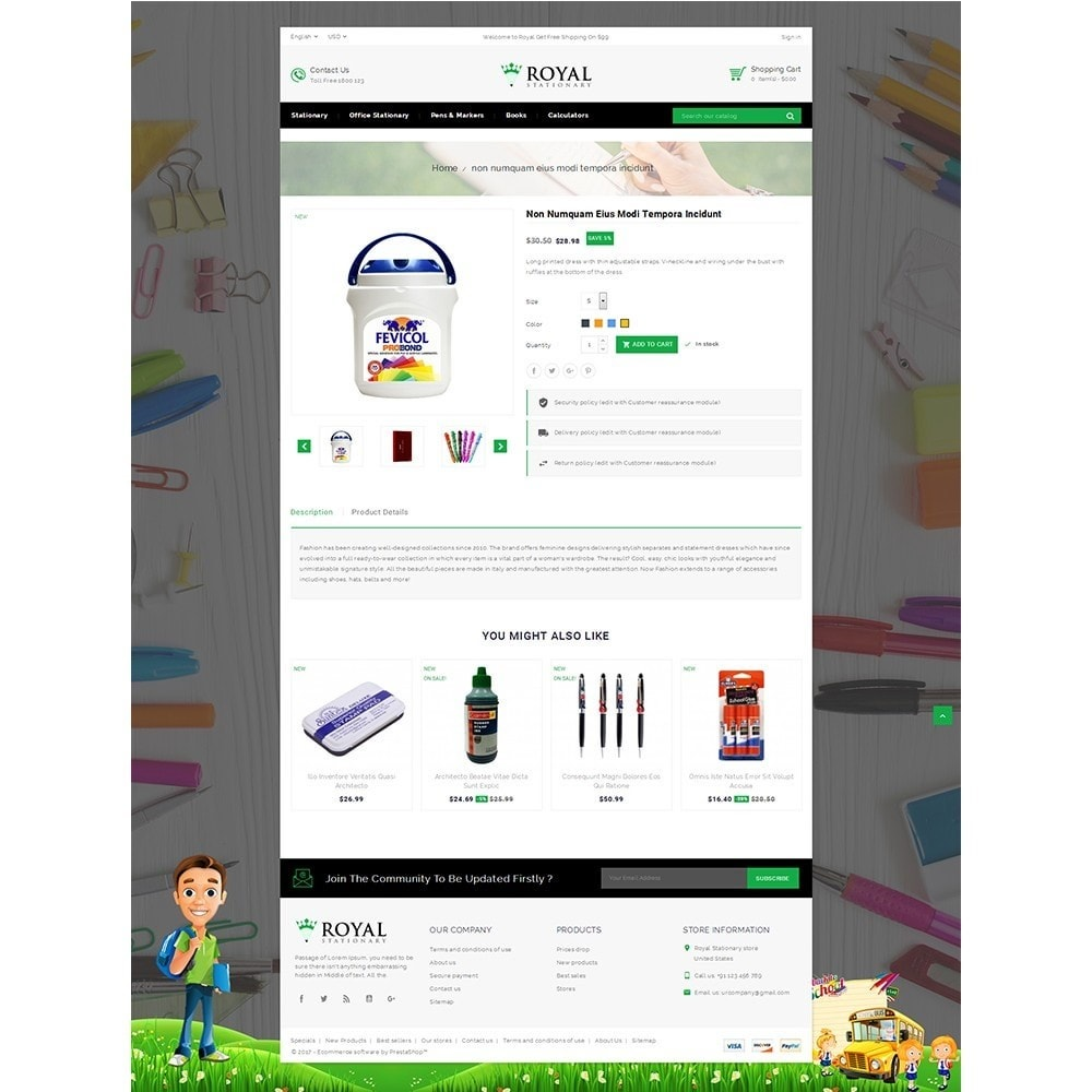 theme - Bambini & Giocattoli - Royal Stationary store - 5