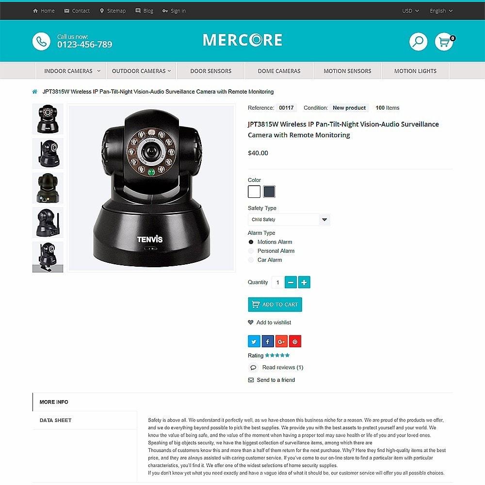 theme - Electronique & High Tech - Mercore - Magasin d'équipement de sécurité - 3