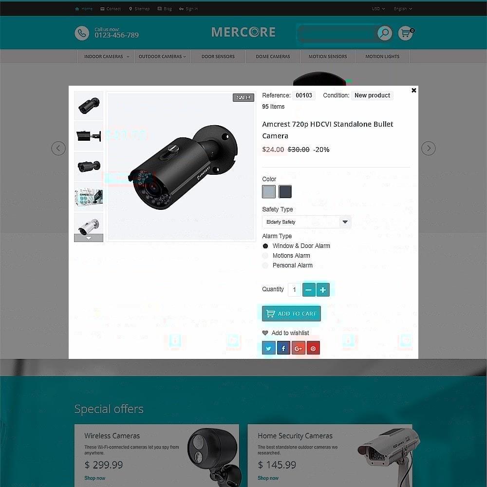 theme - Electrónica e High Tech - Mercore - Tema de PrestaShop para Sitio de Seguridad - 4