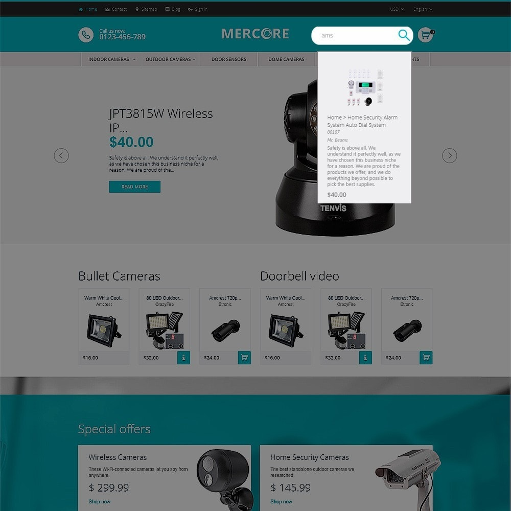 theme - Electrónica e High Tech - Mercore - Tema de PrestaShop para Sitio de Seguridad - 6