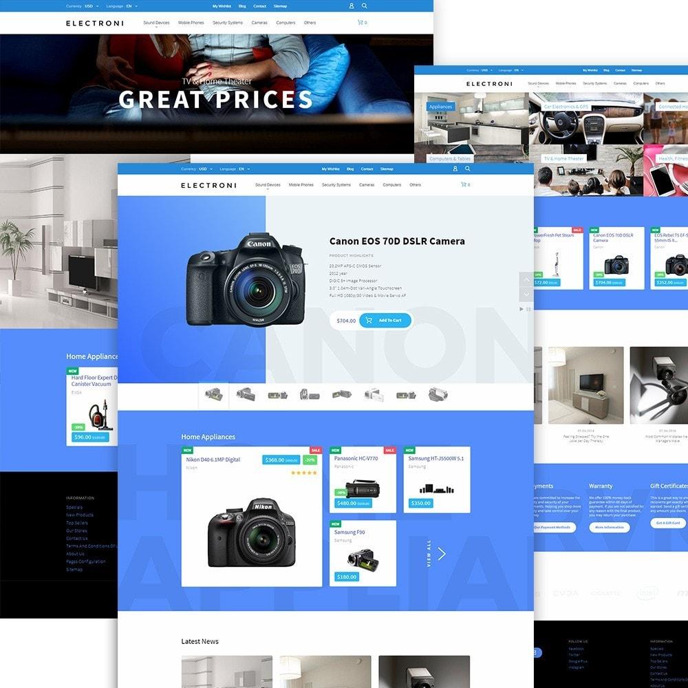 theme - Electrónica e High Tech - Electroni - para Sitio de Tienda de Electrónica - 2