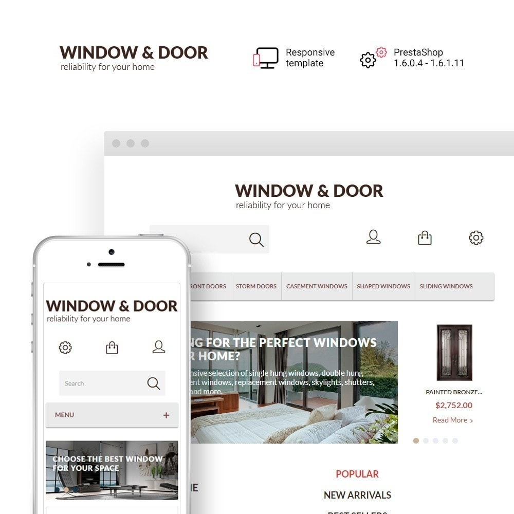 theme - Home & Garden - Window Door PrestaShop Theme - 1