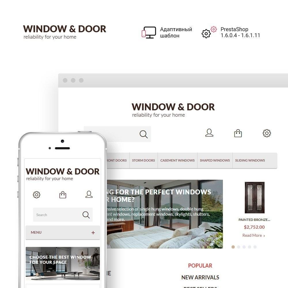 theme - Дом и сад - Window Door PrestaShop шаблон по продаже окон и дверей - 1